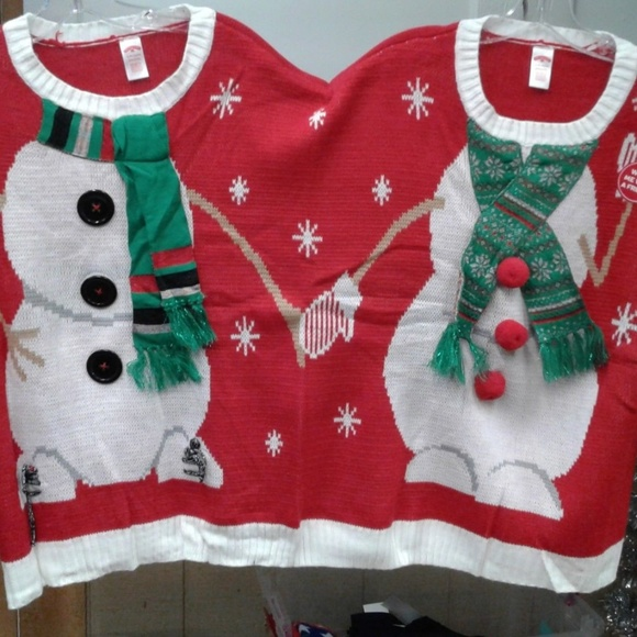 Christmas Sweaters 2 Person Snowman Ugly Sweater New Poshmark